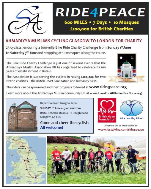 Ahmaiyya-Muslims-Cycling-Glasgow-to-London-for-Charity